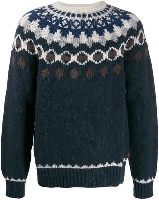 Woolrich patterned knit jumper