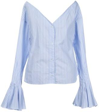 Jacquemus La Reconstruction Blue Cotton Top for Women