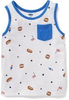 Old Navy July 4th Patterned Tank for Toddler