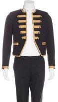 Saint Laurent Wool Embellished Military Blazer