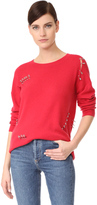 The Kooples Cashmere Sweater with Pins