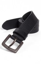 Bosca Men's Gator Embossed Belt
