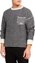 Ovadia Men's Houndstooth Oversized Wool Sweater