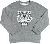 Kenzo Embellished Logo Cotton Sweatshirt