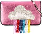 Les Petits Joueurs clouds glittery shoulder bag - women - Leather/PVC/metal - One Size