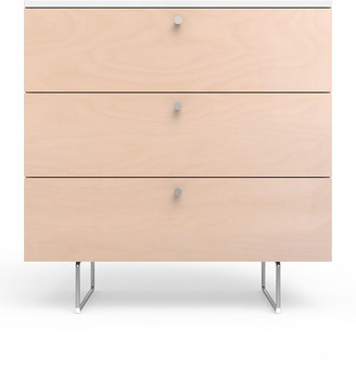 "Spot On Square 34"" Alto Dresser, White/Birch"