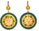 Dolce & Gabbana Gold-plated, Acetate And Crystal Earrings - Yellow