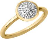 Links of London Diamond Essentials 18-carat yellow-gold vermeil and diamond ring