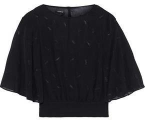 Akris Bead-embellished Silk-chiffon Blouse