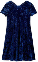 Soprano Velvet Short Sleeve Dress (Big Girls)