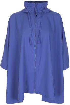 Capelli New York Women's Rain Coats Blue - Blue Loose Rain Poncho - Women
