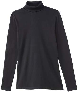 Benetton Cotton Long-Sleeved T-Shirt with Roll-Neck