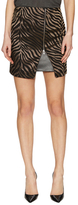 The Kooples Printed Front Zipper Mini Skirt