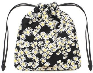 Miu Miu Floral drawstring pouch