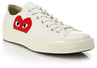 Comme des Garcons Peek-A-Boo Low-Top Canvas Sneakers