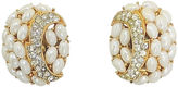 One Kings Lane Vintage 1960s Trifari Faux-Pearl & Pavé Earrings