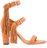 Chloé fringed buckled sandals - women - Leather/Suede - 38.5