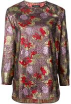 Isabel Marant longsleeved lurex top - women - Silk/Lurex - 40