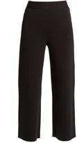Roland Mouret Redan birdseye-knit wide-leg trousers