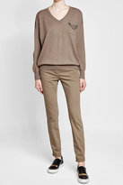 Brunello Cucinelli Cashmere Pullover with Chain Embellishment