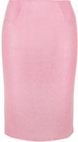 Rosamosario - Sweet Sumatra Wool-blend Pencil Skirt - Baby pink