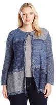 Alfred Dunner Women's Plus Size Block Print Sweater