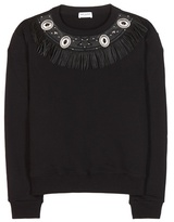 Saint Laurent Embellished Cotton Sweatshirt