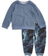 River Island Mini boys blue camo pajama set