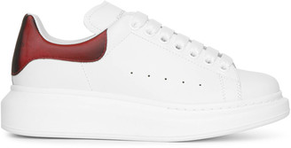 Alexander McQueen White and lust red leather sneakers