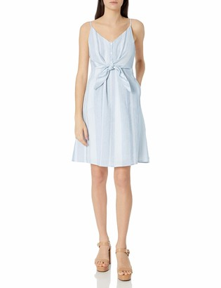 ASTR the Label Women's Parker Sleeveless Stripe Tie Front Flare Dress
