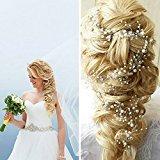 A&C Handmade Rhinestones Bridal Wedding Headband Jewelry for Women, Fashion Hot Sale Flower Hairband for Girls.
