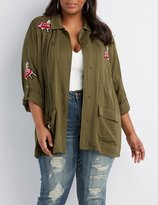 Charlotte Russe Plus Size Embroidered Anorak Jacket