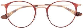 Ray-Ban Tortoiseshell Pantos-Frame Glasses