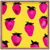 Deny Designs Strawberries Large Square Tray