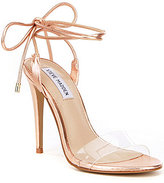 Steve Madden Lyla Ankle Tie Lucite Dress Sandals