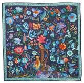 Salvatore Ferragamo Tree of Life Silk Foulard Scarf