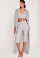 Missguided Carli Bybel Cropped Leggings Grey