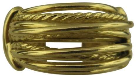 David Yurman 18K Yellow Gold Wide Dome Ring Size 7