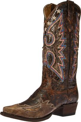 Stetson Women's Reagan Western Boot Brown 10 D US