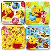 "Disney Set Of 4 Mini Hand Towels For Kids. Winnie The Pooh . 8"" x 8"" (20 cm x 20 cm)."