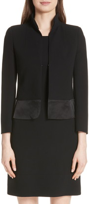 Akris Ilke Double Face Wool Blend Jacket