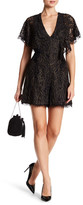 Dress the Population Raven Metallic Lace Romper