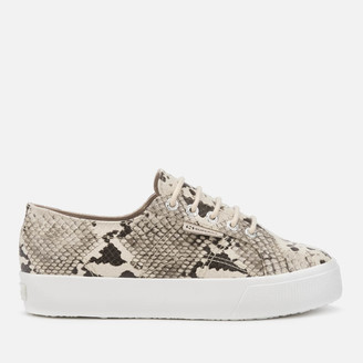 Superga Women's 2730 Synthetic Snake Trainers