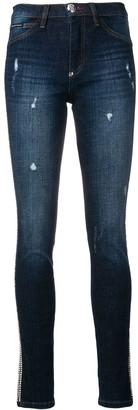 Philipp Plein Crystal Trim Skinny Jeans