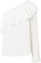 Exclusive for Intermix Dora Lace Detail One Shoulder Top