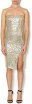 Lovely Day Strapless Sequin Dress