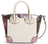 Christian Louboutin Small Elouise Genuine Snakeskin & Calfskin Satchel - None