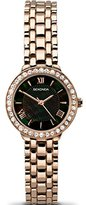 Sekonda Women's Quartz Watch with Black Dial Analogue Display and Rose Gold Alloy Bracelet 2148.27