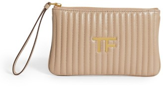 Tom Ford Leather Quilted Wrist Pouch