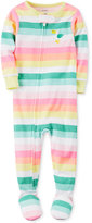 Carter's 1-Pc. Striped Pelican Footed Pajamas, Toddler Girls (2T-5T)